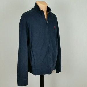 Polo by Ralph Lauren Sweaters - Polo Ralph Lauren Men's Navy Blue zip sweater